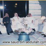 صورة مع سمو الأمير متعب بن عبد الله بن عبد العزيز وسمو الأمير عبد الرحن بن مساعد بن عبد العزيز
